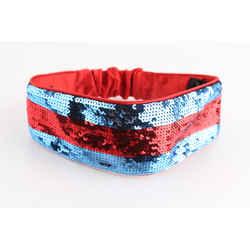 Gucci Blue/Red Sequin Web Headband