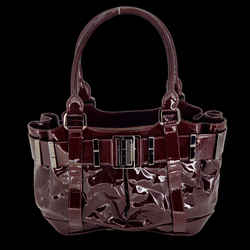 Burberry Patent Quilted Belt Bag Burgundy