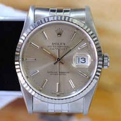 Rolex Datejust  16234 Silver Dial Fluted Bezel 36mm Watch