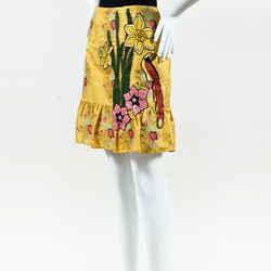Gucci Floral Embellished Jacquard Skirt SZ 40