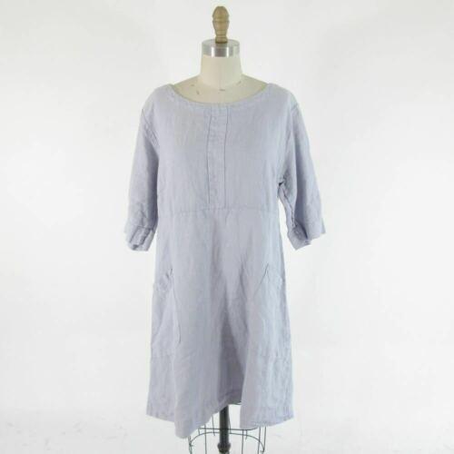 M Cut Loose Anthropologie Pale Purple Linen Short Sleeve A Line Leprix