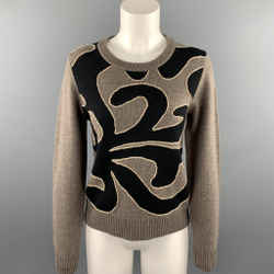 MARC by MARC JACOBS Size L Taupe Knitted Merino Wool Sweater
