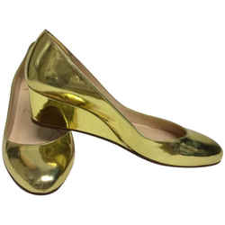 Christian Louboutin Gold Round Wedges Size: EU 37.5 (Approx. US 7.5) Regular (M, B) Item #: 25368313