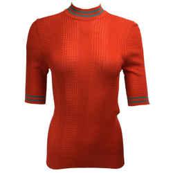 Fendi Silk Knit Orange Sweater