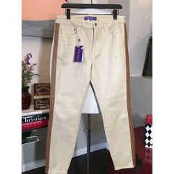 Ralph Lauren Cotton Leather Trim Tuxedo Jeans 2676-5-101020