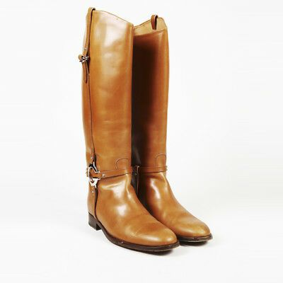 Gucci Leather Harness Riding Boots SZ