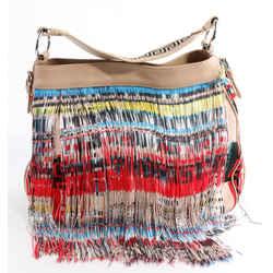 Versace Fringe Frida Hobo Shoulder Bag