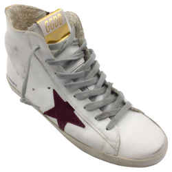 Golden Goose Deluxe Brand White Francy Sneakers