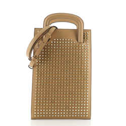 Trictrac Portfolio Bag Leather and Spiked Leather Small