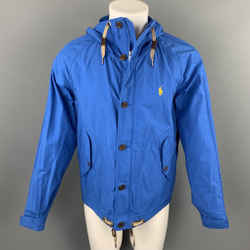 POLO by RALPH LAUREN Size S Blue Cotton / Nylon Hooded Jacket