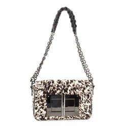 Natalia Chain Shoulder Bag Calf Hair Medium