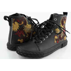 Giuseppe Zanotti High-Top Embroidered Chinese Dragon Sneakers