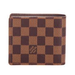 Vintage Authentic Louis Vuitton Brown Damier Ebene Multiple Wallet France