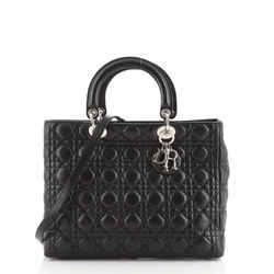 Lady Dior Bag Cannage Quilt Lambskin Large