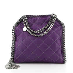 Falabella Fold Over Crossbody Bag Quilted Shaggy Deer Mini