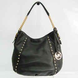 Michael Kors Middleton Women's Leather Studded Shoulder Bag Black BF525415