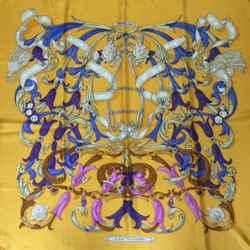 "Hermes Le Mors ""A La Conetable"" Square Silk Scarf 90 cm"