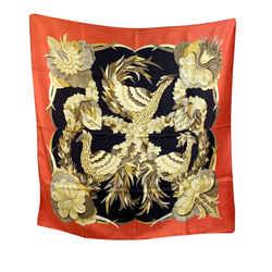 Hermes Paris Vintage Silk Scarf Tahiti 1971 Cathy Latham