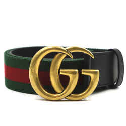Gucci Green Red Marmont GG Stripe Belt Size 95/38