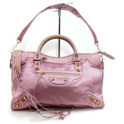 Balenciaga The City 2way Pink Silk Satin Bag 2way  857819