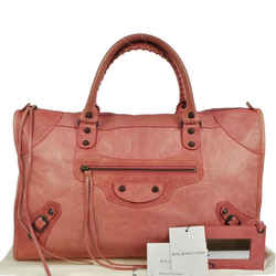 Balenciaga The Work Editor's Pink Leather Satchel Bag- Sale