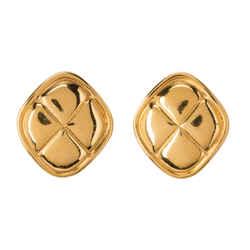 Cc Gold-tone Matelasse Earrings.  Lovely!