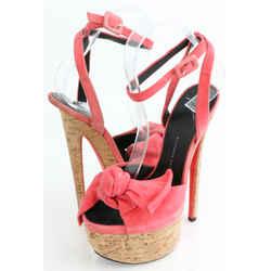 Giuseppe Zanotti Denny Suede High-Heel Sandal w/ Bow