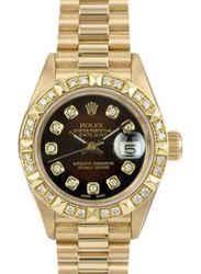 Rolex Lady Datejust 69178 Diamond Dial Diamond Bezel 36mm Watch