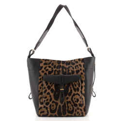 Hollywood T Twist Hobo Printed Pony Hair and Leather Medium