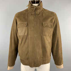 Loro Piana Size Xl Brown Solid Cashmere Lining Zip Up Jacket