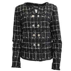 Chanel Black and White Abstract Print Blazer