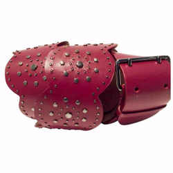 Studded Scalloped Belt Red By Alaia