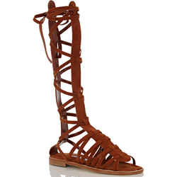 Manolo Blahnik Martihizi Gladiator Brown Suede Sandals Sz 36.5 New Strappy $755