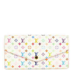 Louis Vuitton Rare Game On White Monogram Multicolor Long Sarah Wallet Porte 861644