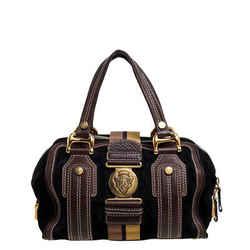 Gucci Black/Brown Leather and Suede Aviatrix Boston Bag