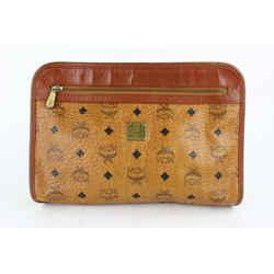 Cognac Monogram Visetos Zip Pouch 230710