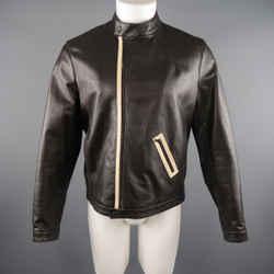 Neil Barrett M Brown Leather Motorcycle Jacket