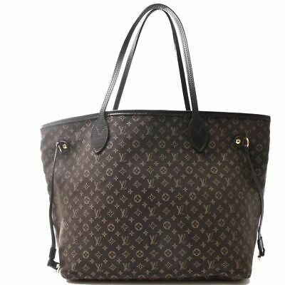 Auth Louis Vuitton Louis Vuitton Ideal Neverfull Mm Fuzan Shoulder Bag Brown Can
