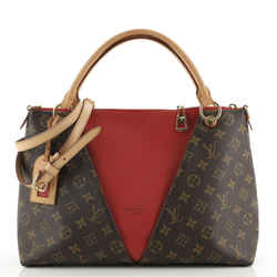 V Tote Monogram Canvas and Leather MM