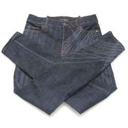 CHANEL Jean Denim Dark Wash Skinny Leg Mid-Rise Buttons Sz 40 2014