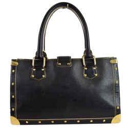 LOUIS VUITTON Suhali Le Fabuleux Leather Satchel Bag Black