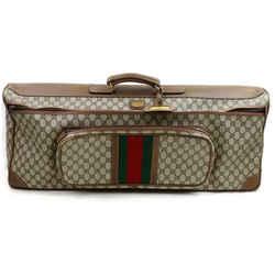Gucci Brown Monogram Supreme Web Tennis Racquet Travel Bag 862511