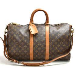 Vintage Louis Vuitton Keepall 45 Bandouliere Monogram Canvas Duffle Travel Bag + Strap LU256