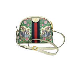 Authentic Gucci Shoulder Bag Higuci Yuko Japan Exclusive Sylvie Stripe GP White Leather Bag