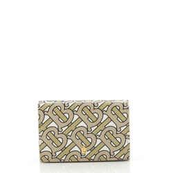 TB Double Flap Wallet Monogram Print Leather