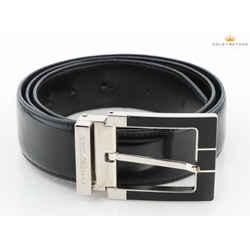 Dolce and Gabbana Reversible Shiny Leather Black Belt Size 34