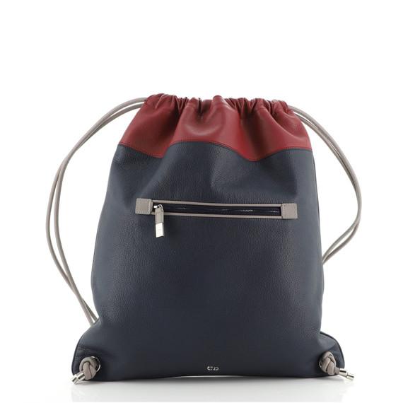 Drawstring Backpack Leather Medium