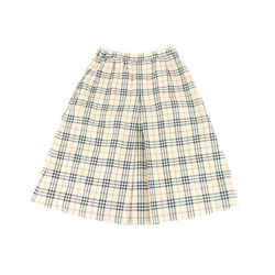 Burberry Nova Check Pleated Skirt 859521