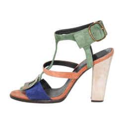 Roger Vivier Colourblock Suede Sandals