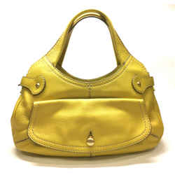 Tod's Golden-yellow Caviar Leather Shoulder Hobo Hand Bag